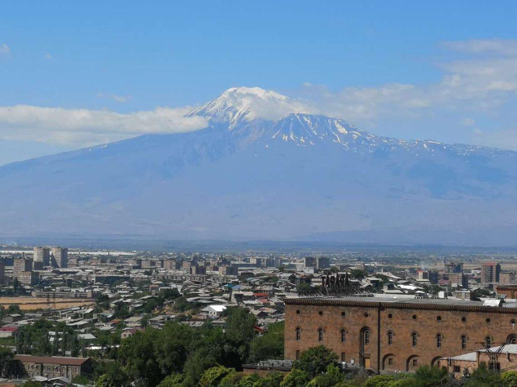 гледка към Арарат от Ереван