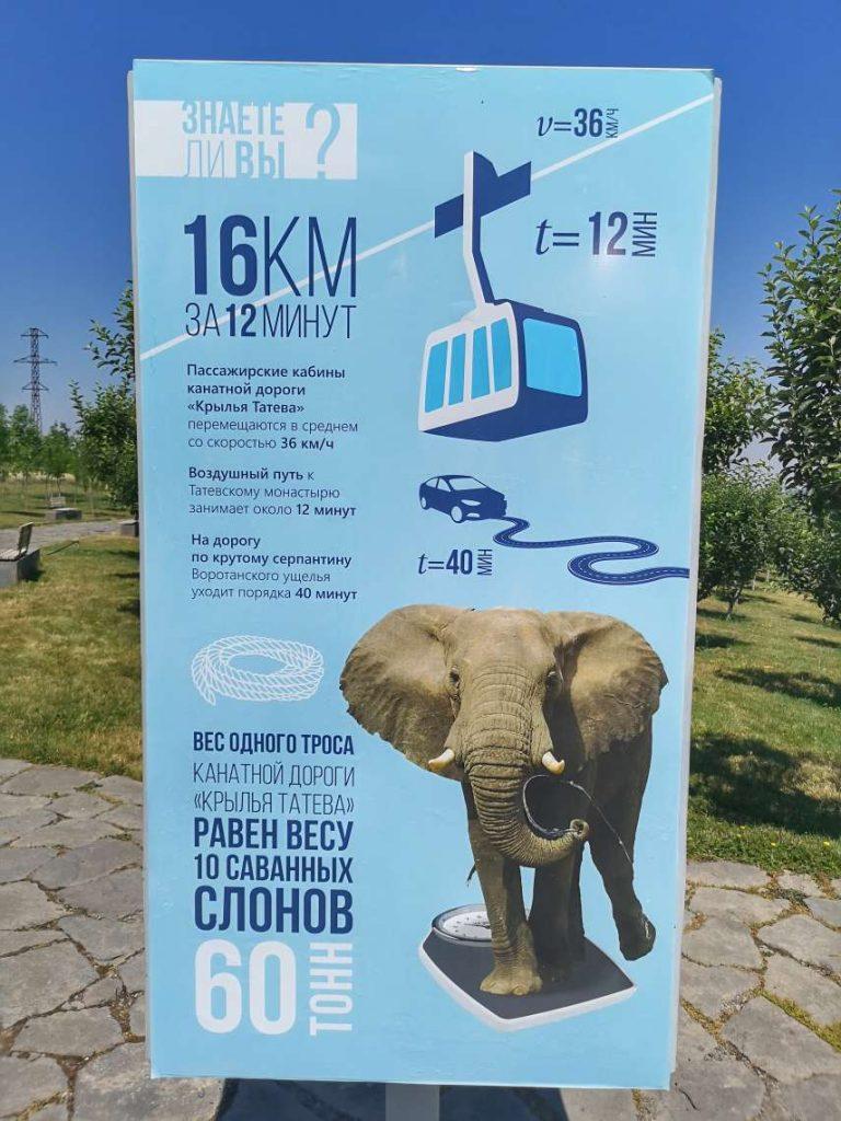 Лифтът към Манастира Татев
